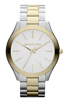 MICHAEL KORS Mk3198 gold and silver-plated watch