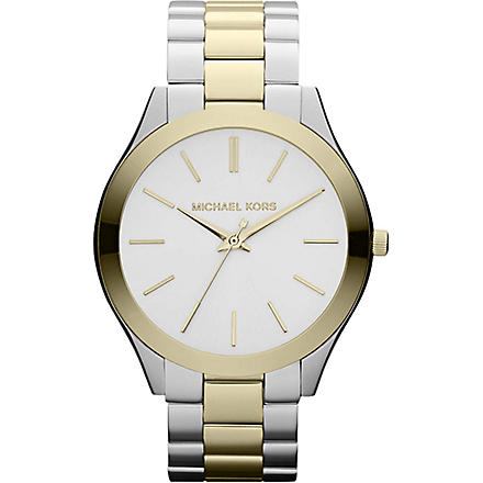 MICHAEL KORS Mk3198 gold and silver-plated watch (Silver
