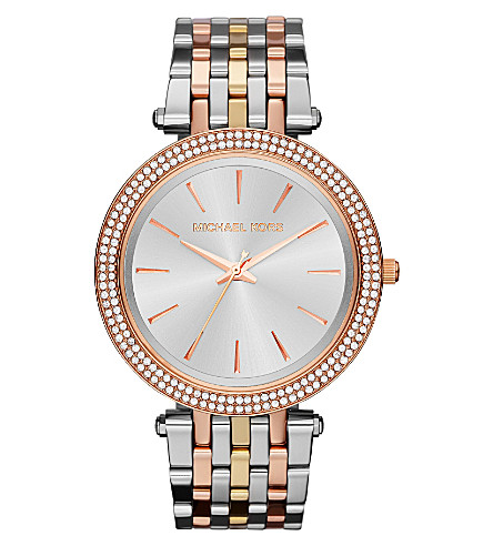MICHAEL KORS MK3203 Darci gold-toned and stainless steel watch (Silver