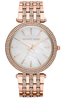 MICHAEL KORS MK3220 Darci rose gold-toned stainless steel watch