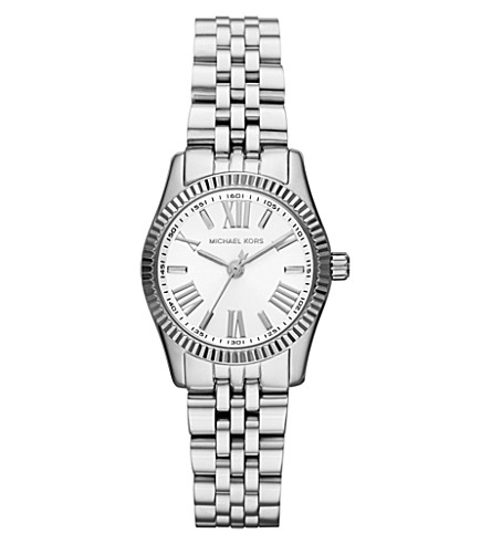 MICHAEL KORS MK3228 Lexington stainless steel watch (White