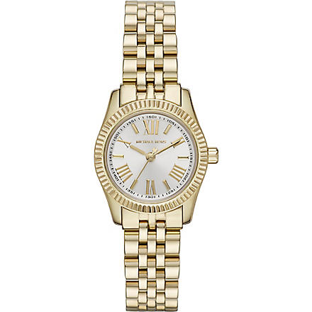 MICHAEL KORS MK3229 Lexington gold-plated watch (White