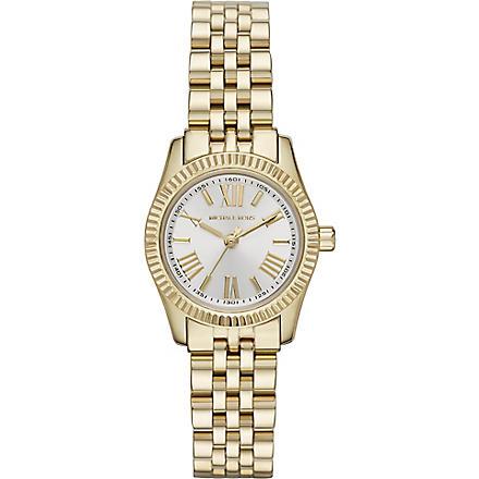 MICHAEL KORS MK3229 Lexington gold-plated watch (White