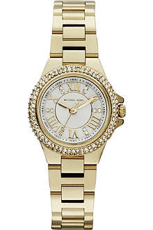 MICHAEL KORS Jewel-encrusted gold-toned watch