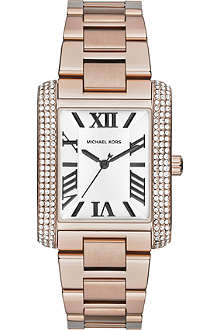 MICHAEL KORS Jewel-encrusted square watch