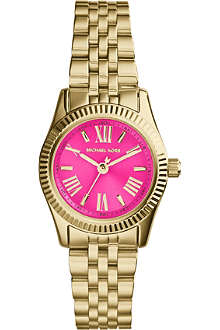 MICHAEL KORS MK3270 Mini Lexington gold-plated pink watch