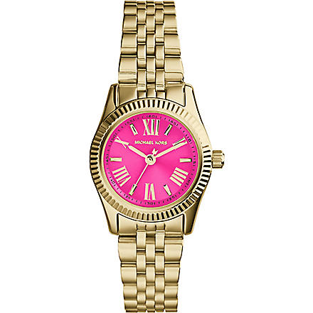 MICHAEL KORS MK3270 Mini Lexington gold-plated pink watch (Pink
