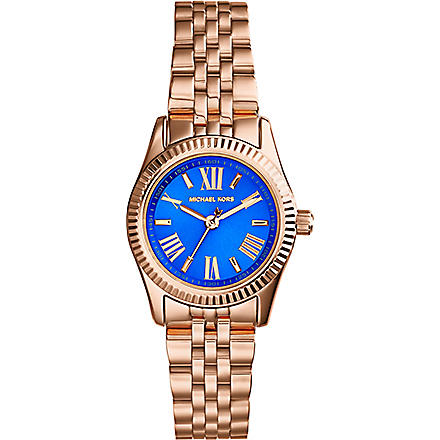 MICHAEL KORS MK3272 Mini Lexington gold-plated purple watch (Purple