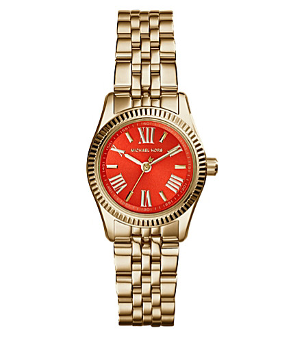 MICHAEL KORS MK3284 Lexington gold-toned stainless steel watch (Gold