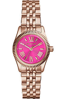MICHAEL KORS MK3285 Lexington rose gold-toned stainless steel watch