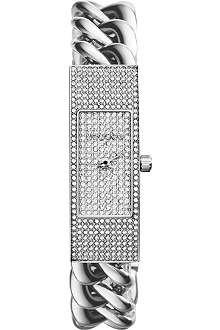 MICHAEL KORS MK3305 Hayden pavé-embellished chain-link watch