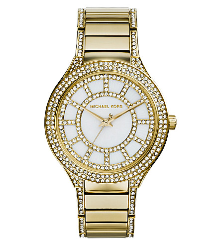 MICHAEL KORS MK3312 Kerry gold-toned stainless steel and mother-of-pearl watch (White+genuine