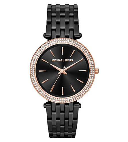 MICHAEL KORS MK3407 darci stainless steel watch (Black