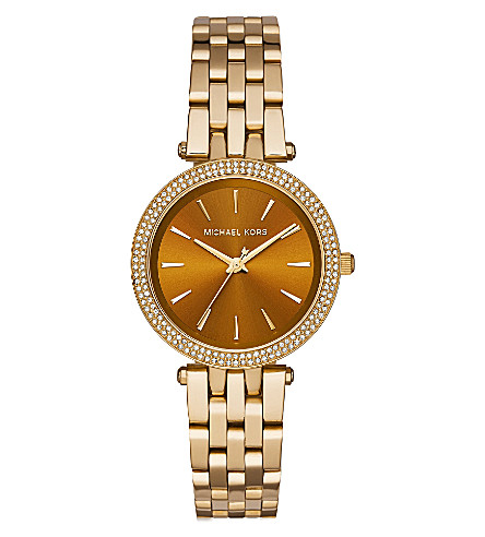 MICHAEL KORS MK3408 Darci stainless steel watch (Brown