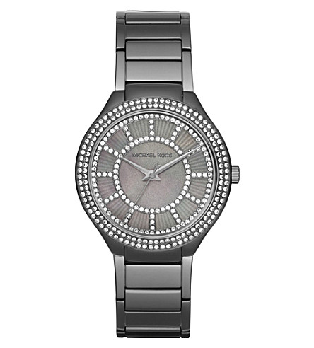 MICHAEL KORS MK3410 Kerry gunmetal watch (Silver
