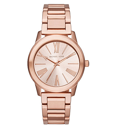MICHAEL KORS MK3491 rose gold-plated stainless steel watch (Rose+gold