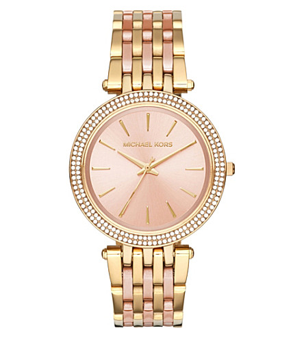 MICHAEL KORS MK3507 Darci two-tone stainles steel watch (Rose+gold
