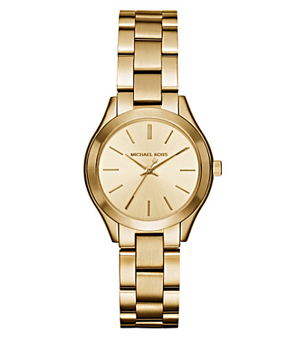 MICHAEL KORS Michael Kors Slim Runway Gold-Tone Stainless Steel Watch