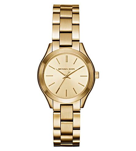 MICHAEL KORS Michael Kors Slim Runway Gold-Tone Stainless Steel Watch