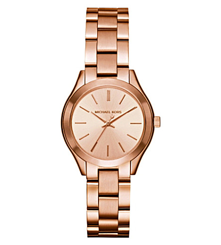 MICHAEL KORS MK3513 rose gold-plated stainless steel watch (Rose+gold