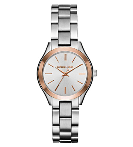 MICHAEL KORS 3514 Mini Slim Runway stainless steel watch (Silver