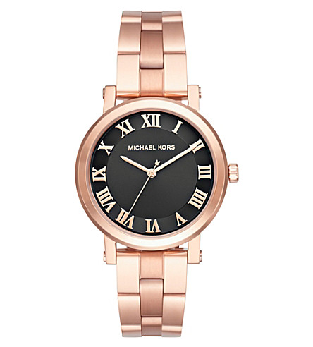 MICHAEL KORS MK3585 Norie rose gold-plated stainless steel watch