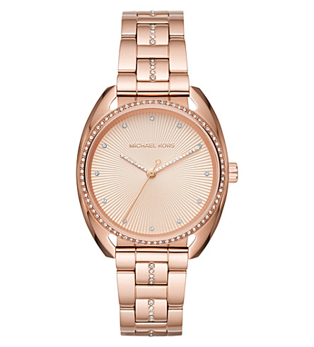 MICHAEL KORS Libby rose gold-toned watch