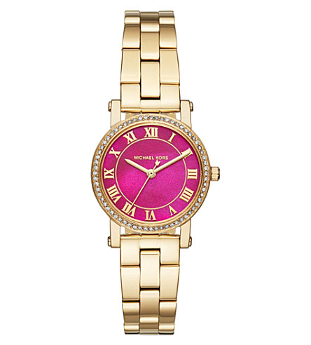 MICHAEL KORS MK3708 Petite Norie gold-tone stainless steel quartz watch