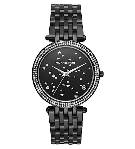 MICHAEL KORS MK3787 Darci stainless steel and crystal quartz watch