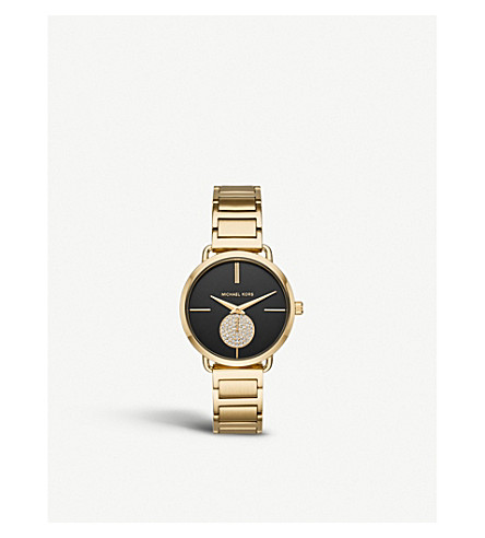 MICHAEL KORS MK3788 Portia PVD gold-plated stainless steel quartz watch