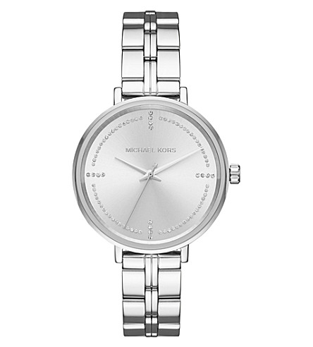 MICHAEL KORS MK3791 Bridgette silver-toned stainless steel and crystal quartz watch