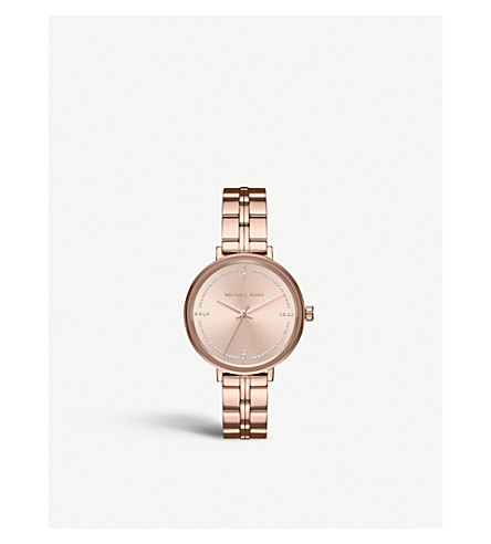 MICHAEL KORS MK3793 Bridgette rose gold-toned stainless steel and crystal quartz watch