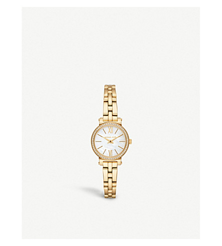 MICHAEL KORS MK3833 Sofie yellow gold-toned stainless steel watch