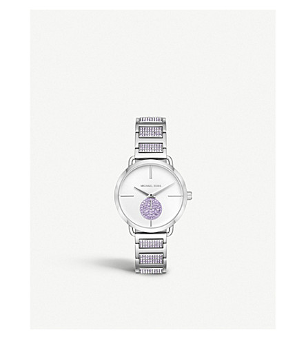 MICHAEL KORS MK3842 Portia stainless steel and cubic zirconia watch
