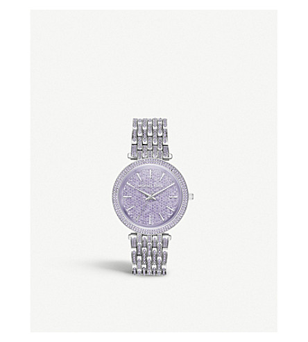 MICHAEL KORS MK3850 Darci stainless steel and crystal watch