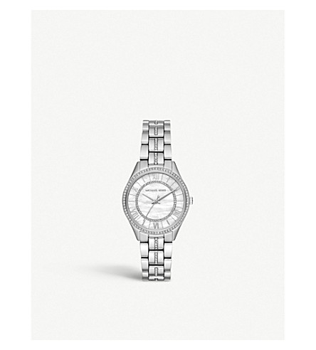 MICHAEL KORS MK3900 Lauryn cubic zirconia, Mother of Pearl and stainless steel watch