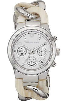 MICHAEL KORS Mk4263 silver-plated chronograph watch