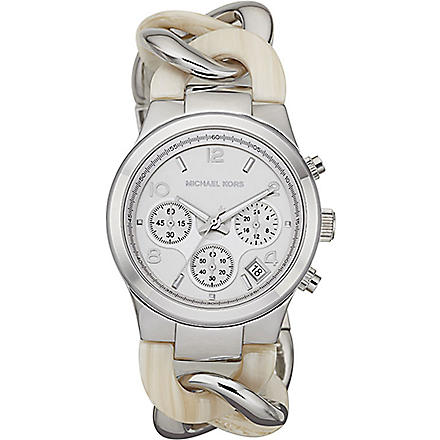 MICHAEL KORS Mk4263 silver-plated chronograph watch (Silver
