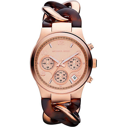 MICHAEL KORS MK4269 rose-gold chronograph watch (Silver