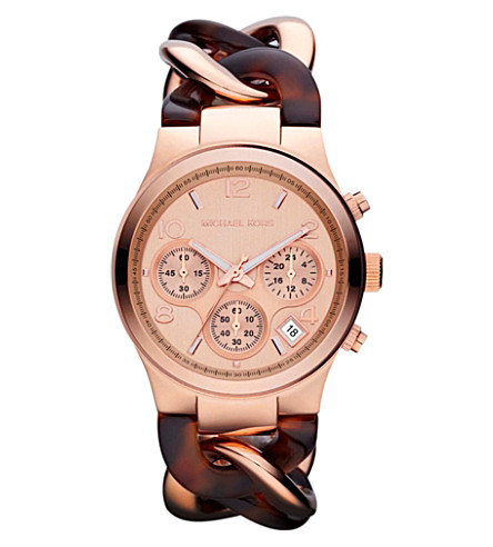 MICHAEL KORS MK4269 Runway rose gold-toned watch (Silver