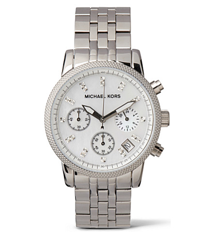 MICHAEL KORS MK5020 Ritz stainless steel watch (Silver