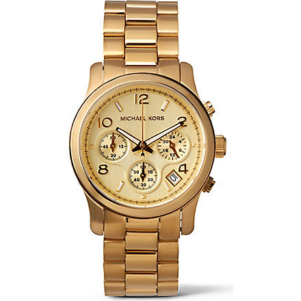 MICHAEL KORS MK5055 gold-plated chronograph watch (Gold
