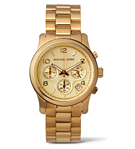 MICHAEL KORS MK5055 Runway gold-plated stainless steel watch (Gold
