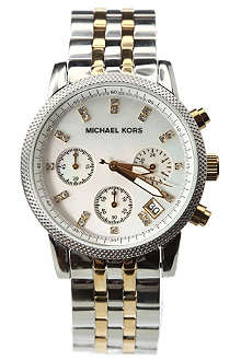 MICHAEL KORS MK5057 Stainless steel and gold-plated chronograph watch