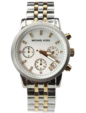 MICHAEL KORS MK5057 Ritz stainless steel and gold-plated watch