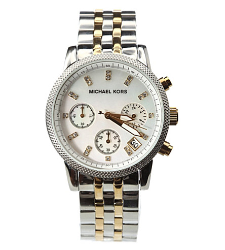 MICHAEL KORS MK5057 Ritz stainless steel and gold-plated watch (Silver & gold