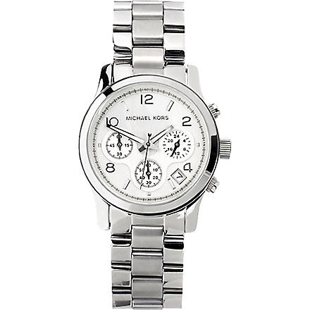 MICHAEL KORS MK5076 stainless steel chronograph watch (Silver