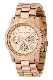 MICHAEL KORS MK5128 rose gold-plated chronograph watch