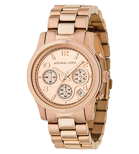 MICHAEL KORS MK5128 Runway rose gold-plated watch (Rose+gold