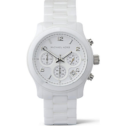 MICHAEL KORS MK5161 ceramic chronograph watch (White